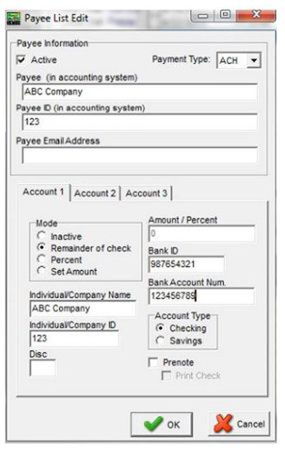 You can set up this check writing software to make ACH payments.