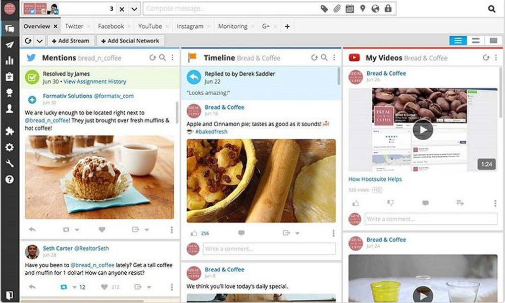 Hootsuite Insights image: You can manage up to 50 social media profiles with the business plan.