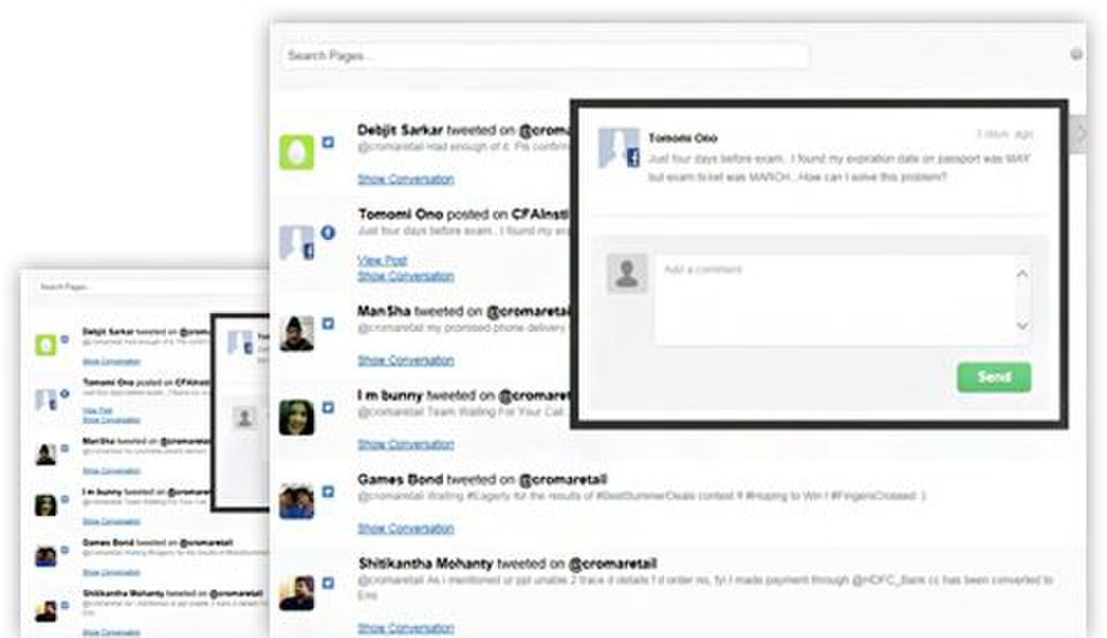 SocialClout image: You can get alerts to kudos or complaints so you can respond quickly.