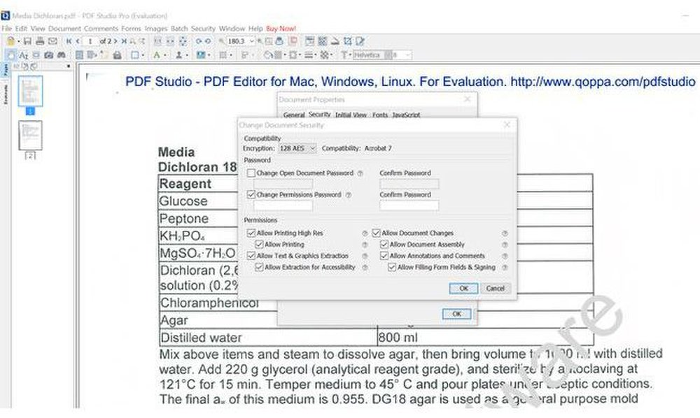 Qoppa PDF Studio Pro image: Among its numerous security features, this software allows you to password-protect files.