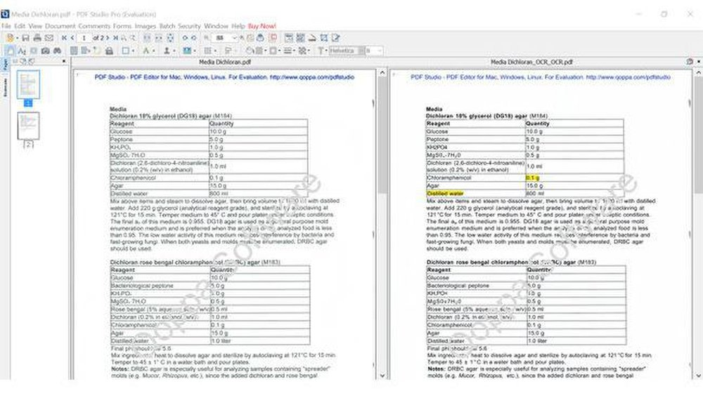 Qoppa PDF Studio Pro image: You can compare documents right next to each other to identify any errors.