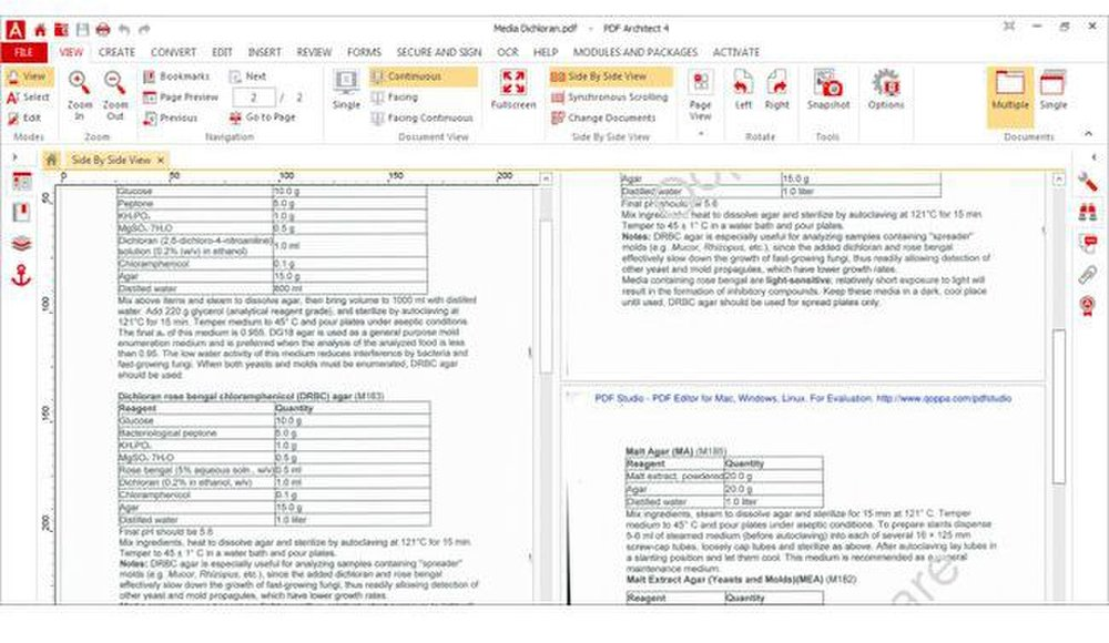 PDF Architect image: The side-by-side comparison allows you to identify any discrepancies between the original and converted document.