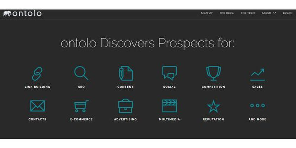 Ontolo image: This tool searches for prospects for link building, content marketing, reputation management and more.