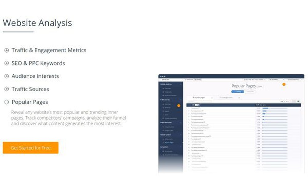 SimilarWeb image: This SEO tool analyzes your competitor's website for metrics on traffic, keywords and more.