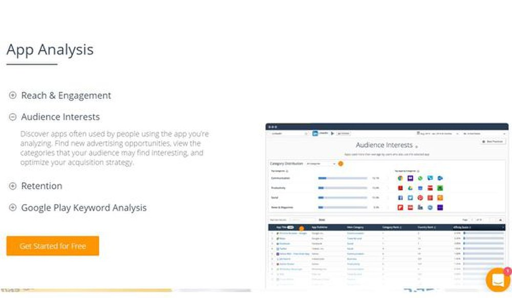 SimilarWeb image: You can analyze your app and the apps of your competition with this SEO tool.