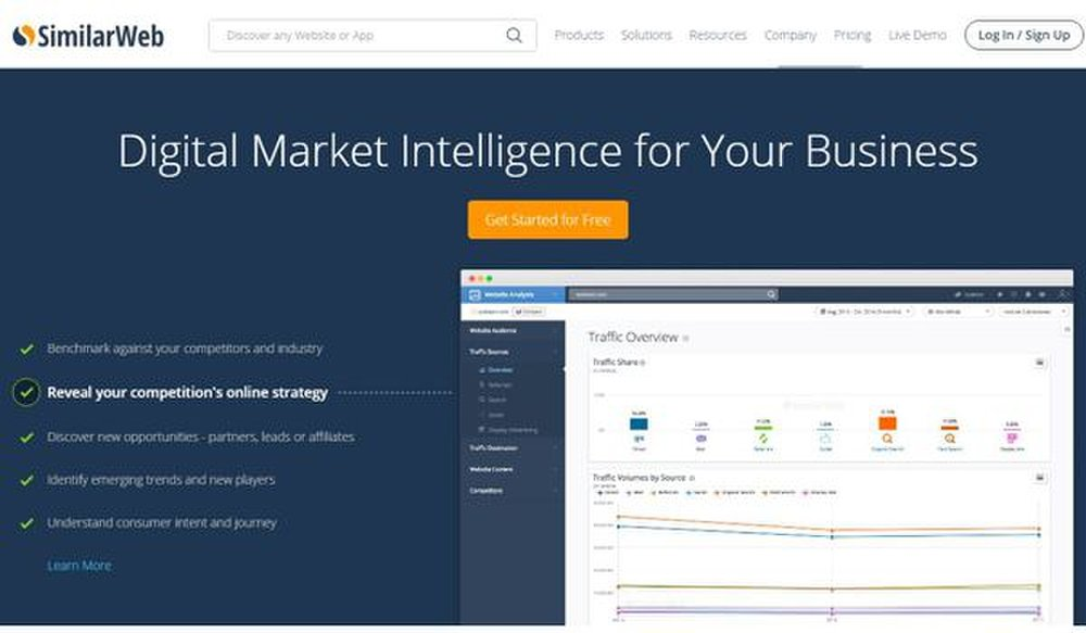 SimilarWeb image: By gathering information on your competitors and industry, SimilarWeb helps give you a better understanding of what your customers are interested in and how you can reach them.