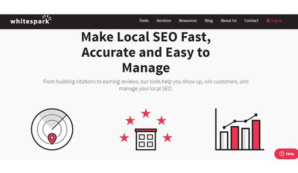 Whitespark image: This SEO tool can help you build your local SEO with research and reputation building.
