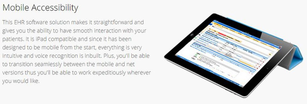 Human Medical Billing's EHR software is available through mobile devices for accessing your patients' data on the go.