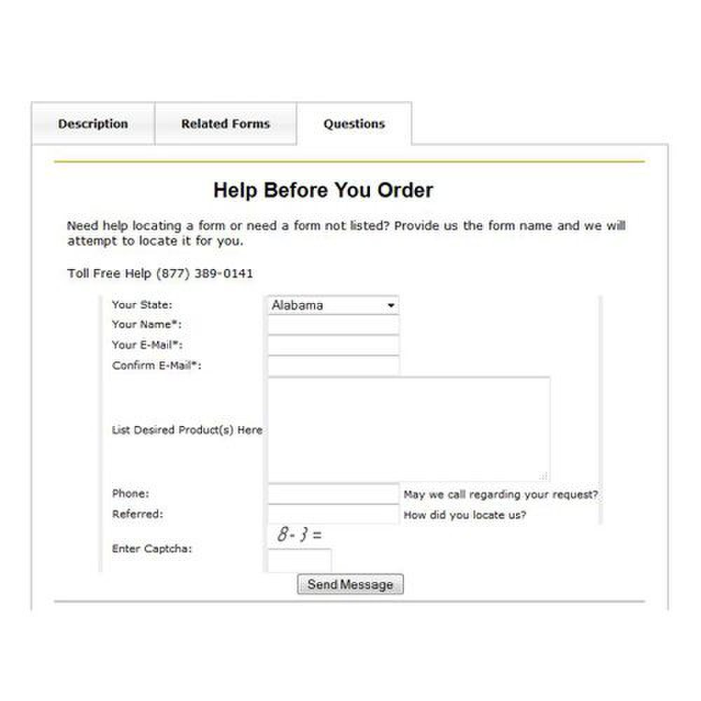 US Legal image: This service has help options for both before and after purchasing your forms.