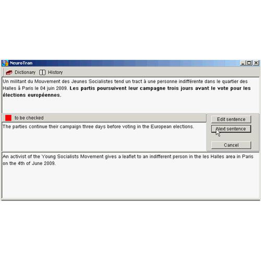 NeuroTran PRO image: Sentence by sentence translation is available for more editing capability.
