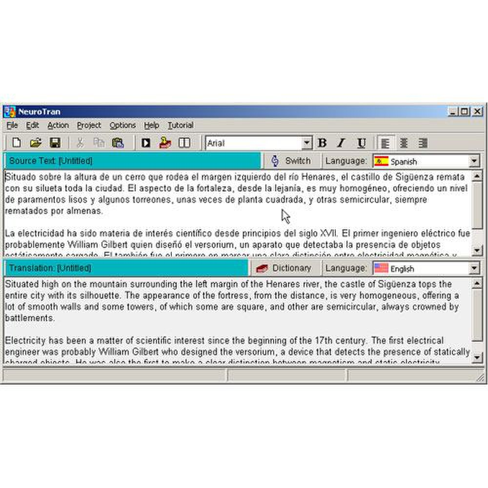 NeuroTran PRO image: Over 99 translation languages are available.