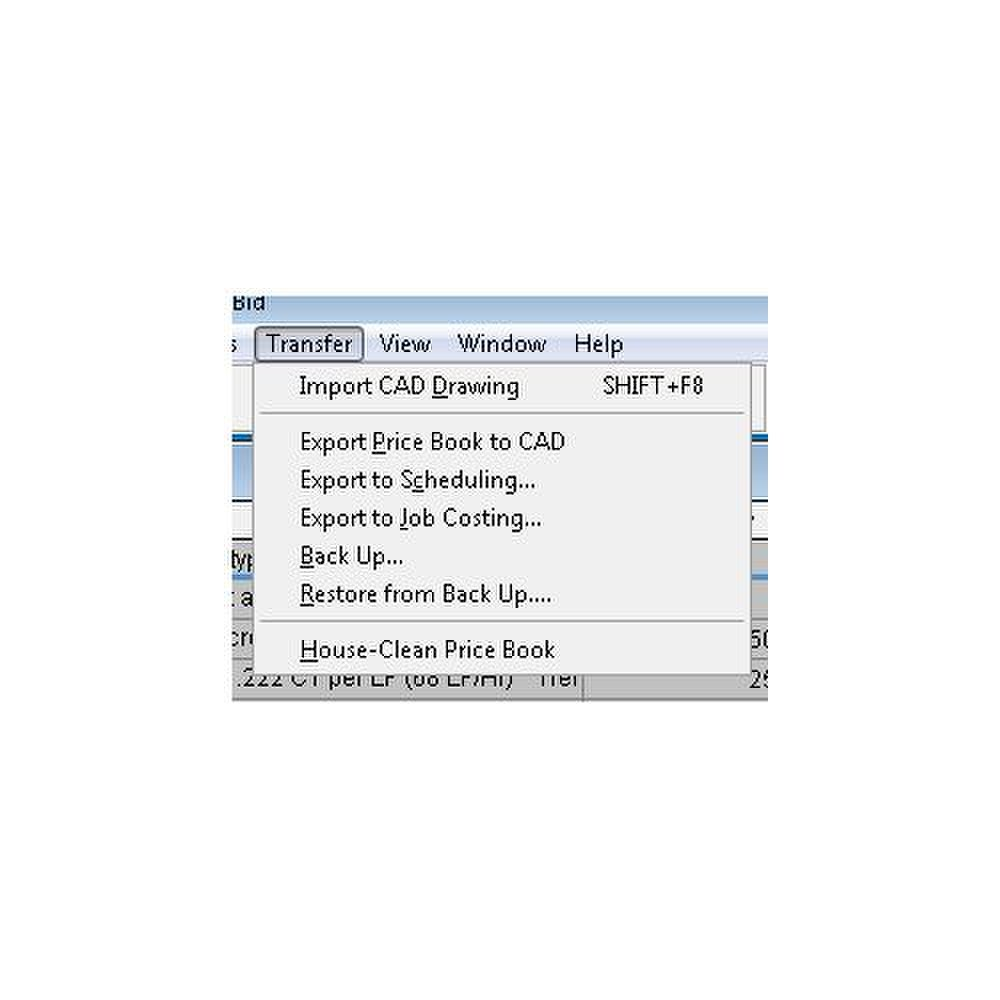 EasyEst Pro image: You can import CAD designs or export data into a variety of third-party programs, including scheduling and job-costing solutions.