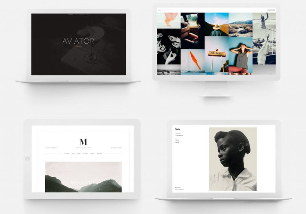 Squarespace image: The template page allows you pick from professionally designed sites that vary from the intricate to the minimalistic.