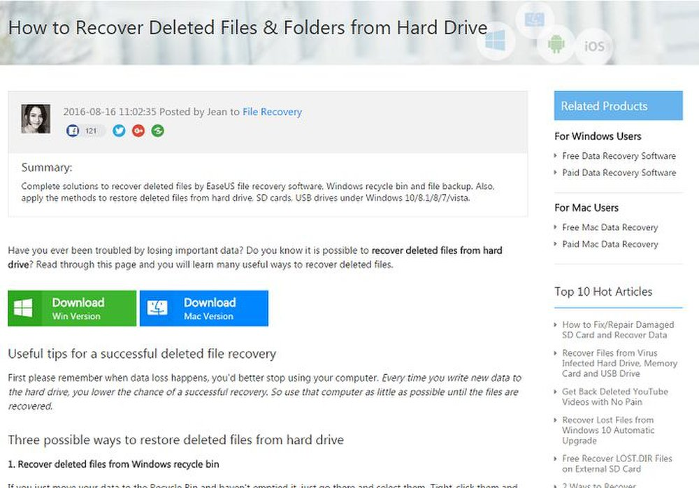 EaseUS Data Recovery Review   Data Recovery Software Reviews