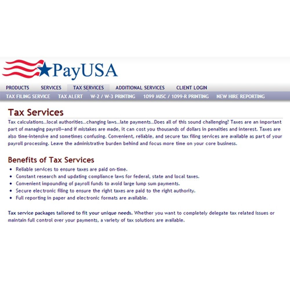 PayUSA offers a few tax services along with payroll.