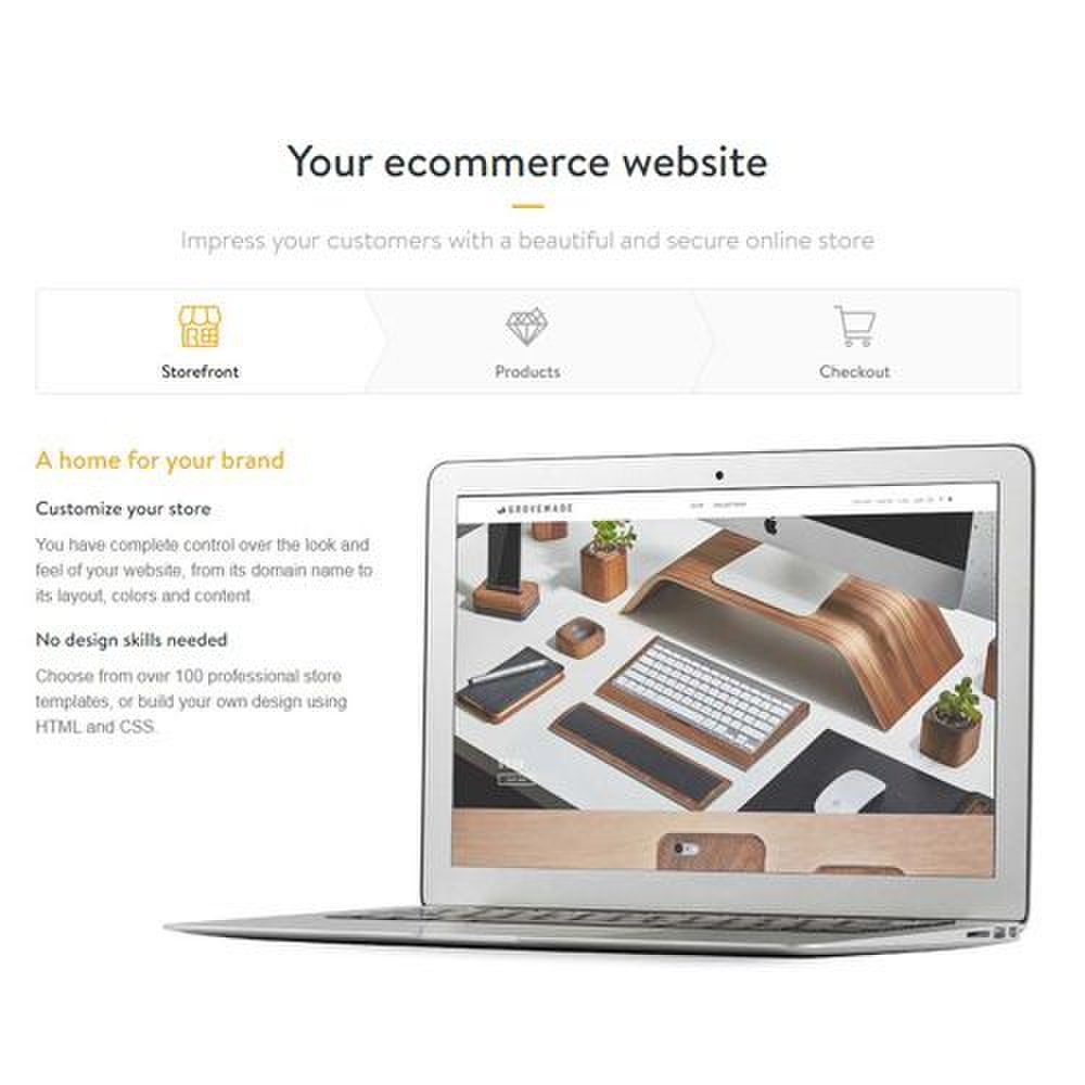 Shopify image: Over 100 templates are available for you to choose from when you design your eCommerce website.