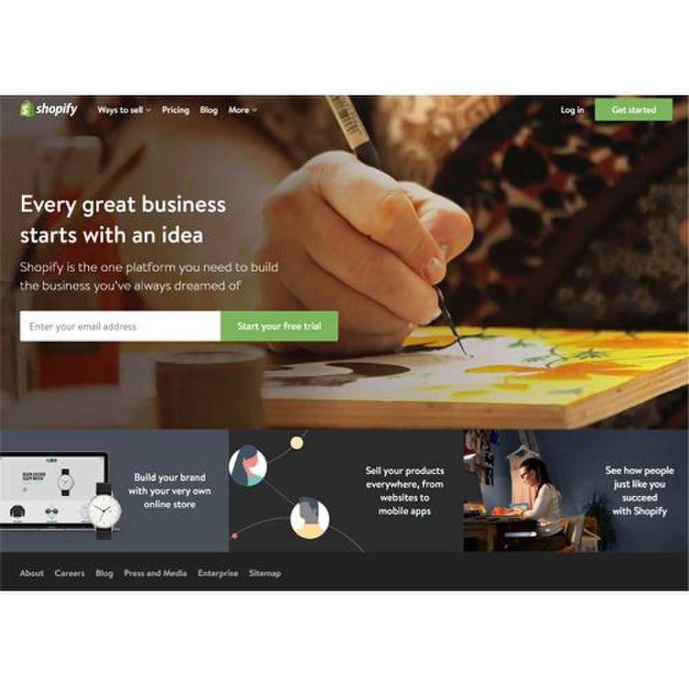 Shopify image: Shopify's eCommerce services help you sell your products to customers with websites or even mobile apps.