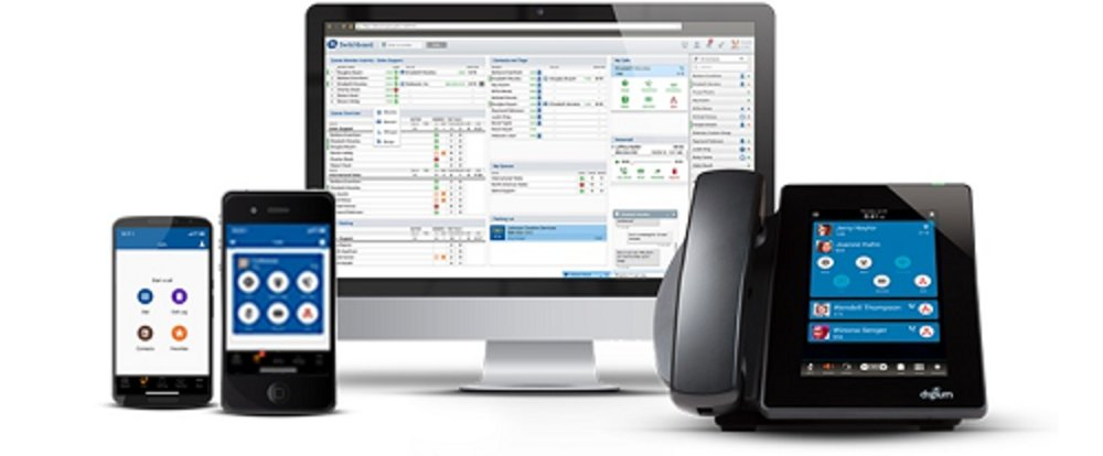 With Digium Switchvox, you and your team can make calls from desk phones and mobile devices.