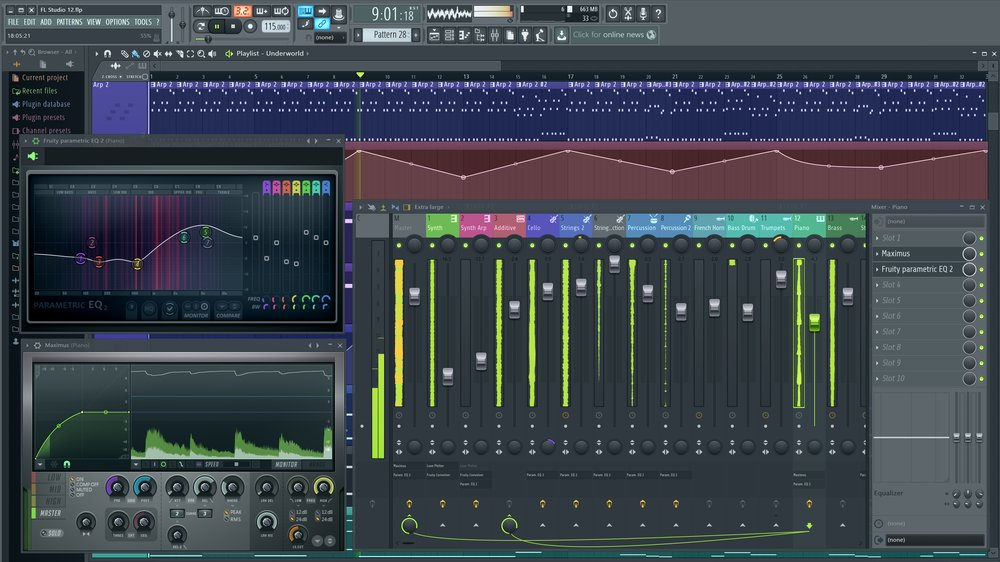 This program comes with a long-list of plug-ins and audio-editing tools. You can also download additional plug-ins through the FL Studio store.