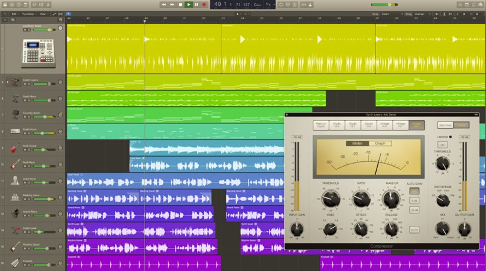 This program features an intuitive design with pop-out windows. It also includes 66 effect plug-ins and nine MIDI plug-ins, making it a comprehensive software app for audio editing.