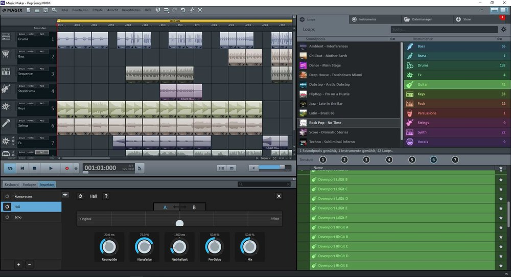 Music Maker offers an easy-to-use, sleek layout for audio editors of all levels.