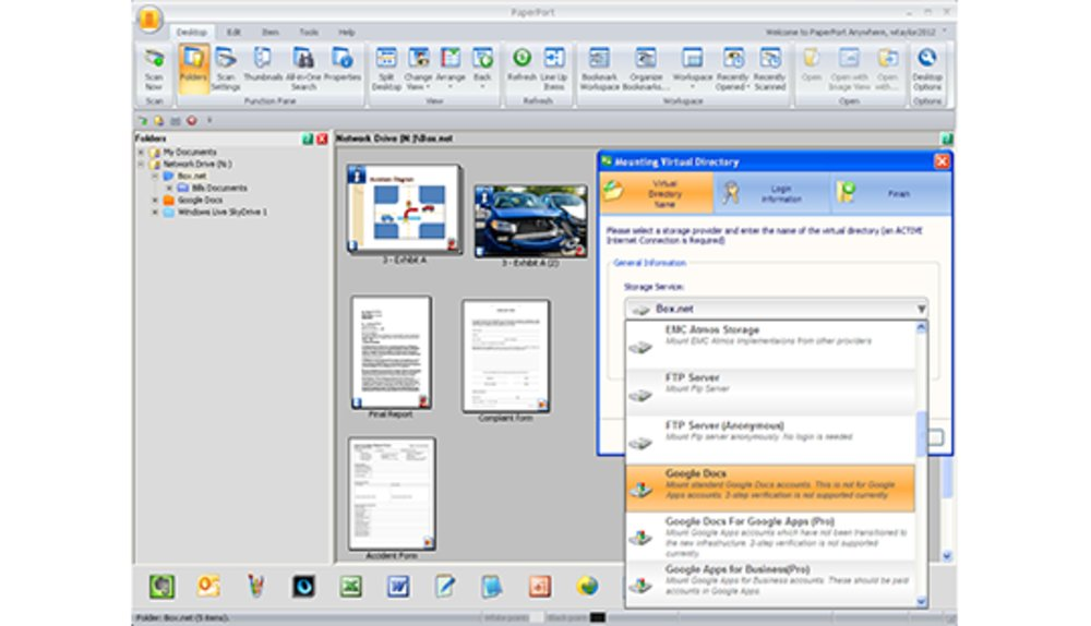PaperPort Pro allows you to convert PDF files and combine multiple documents into one file.
