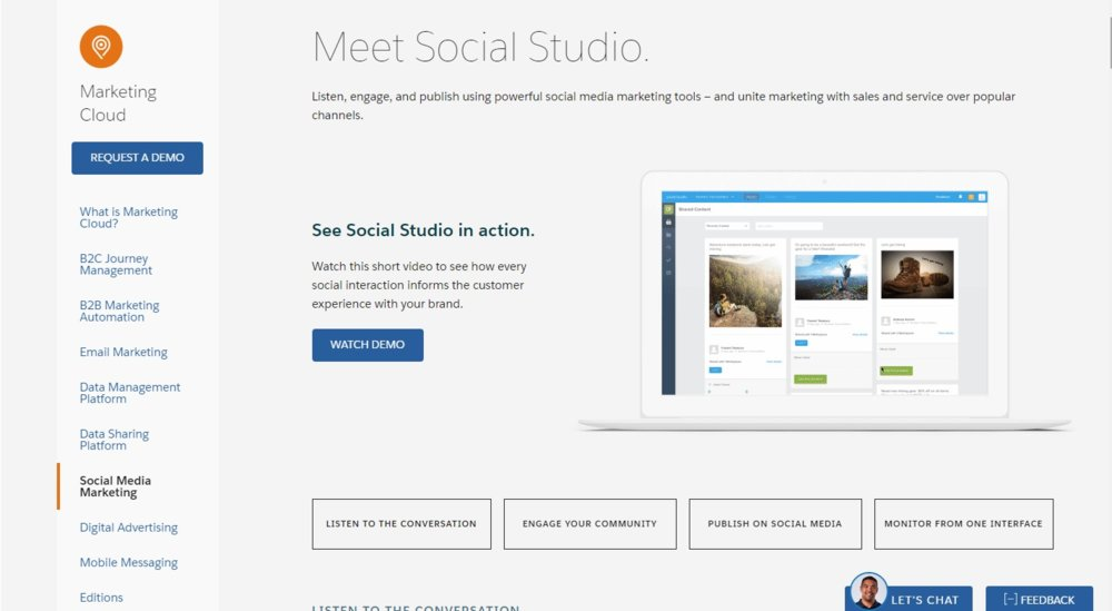 The Social Studio tool helps you listen, engage and publish on social media.