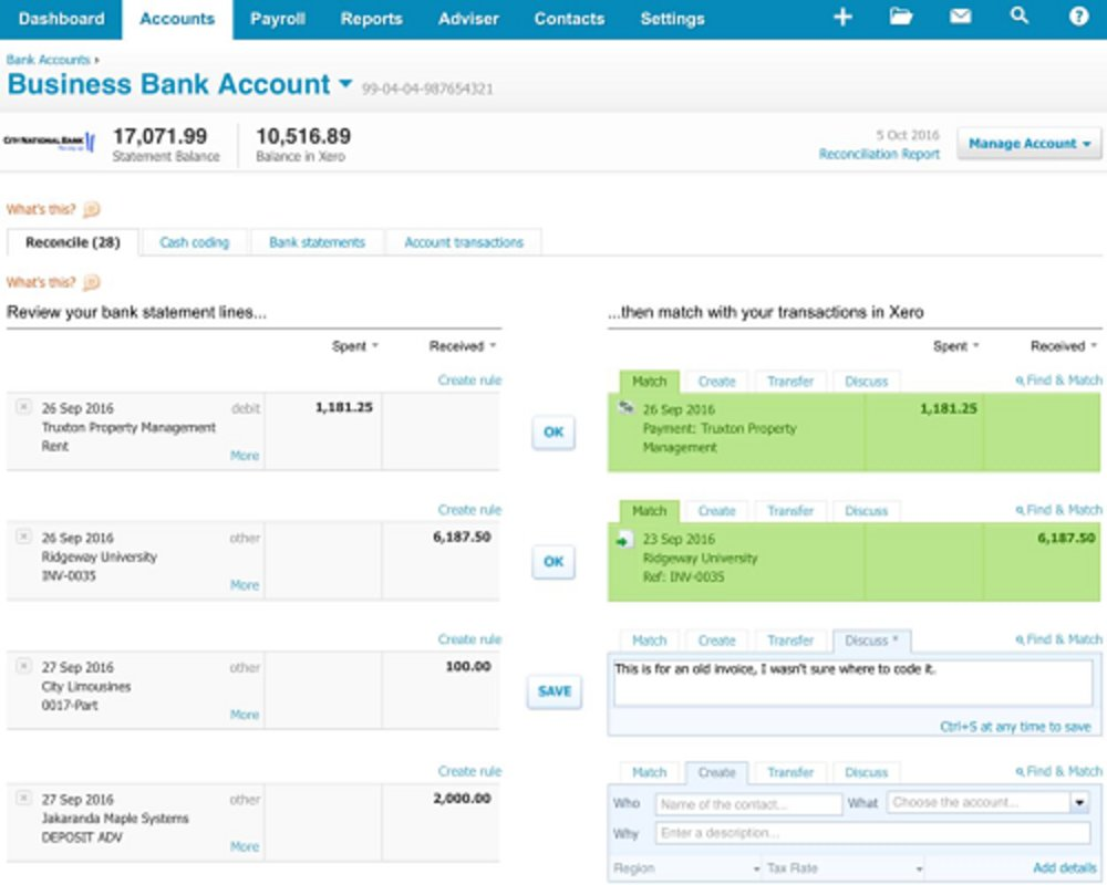Xero's smart reconciliation tools predict matches between your bank transactions and those you've recorded in the software, making it easy to stay on top of this accounting task.