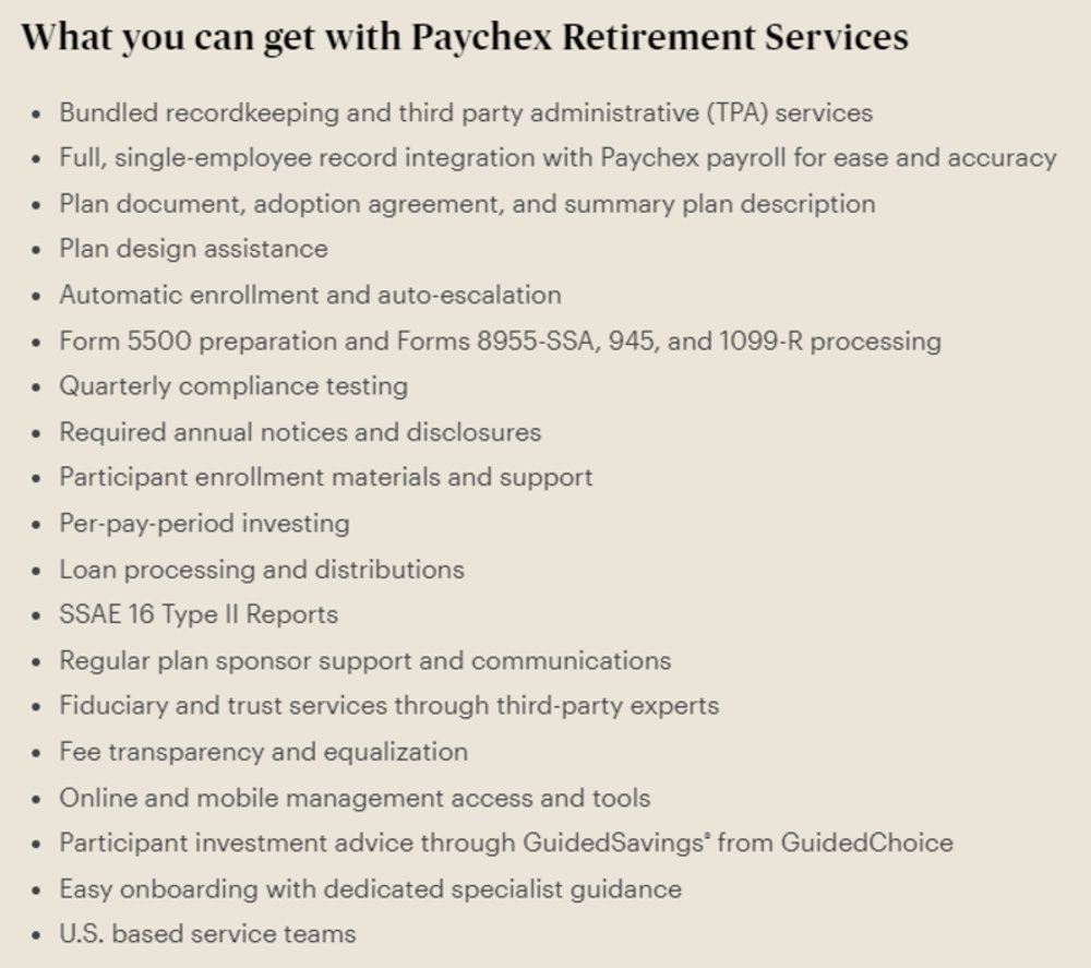 Paychex Review 2019 | Employee Retirement Plan Reviews