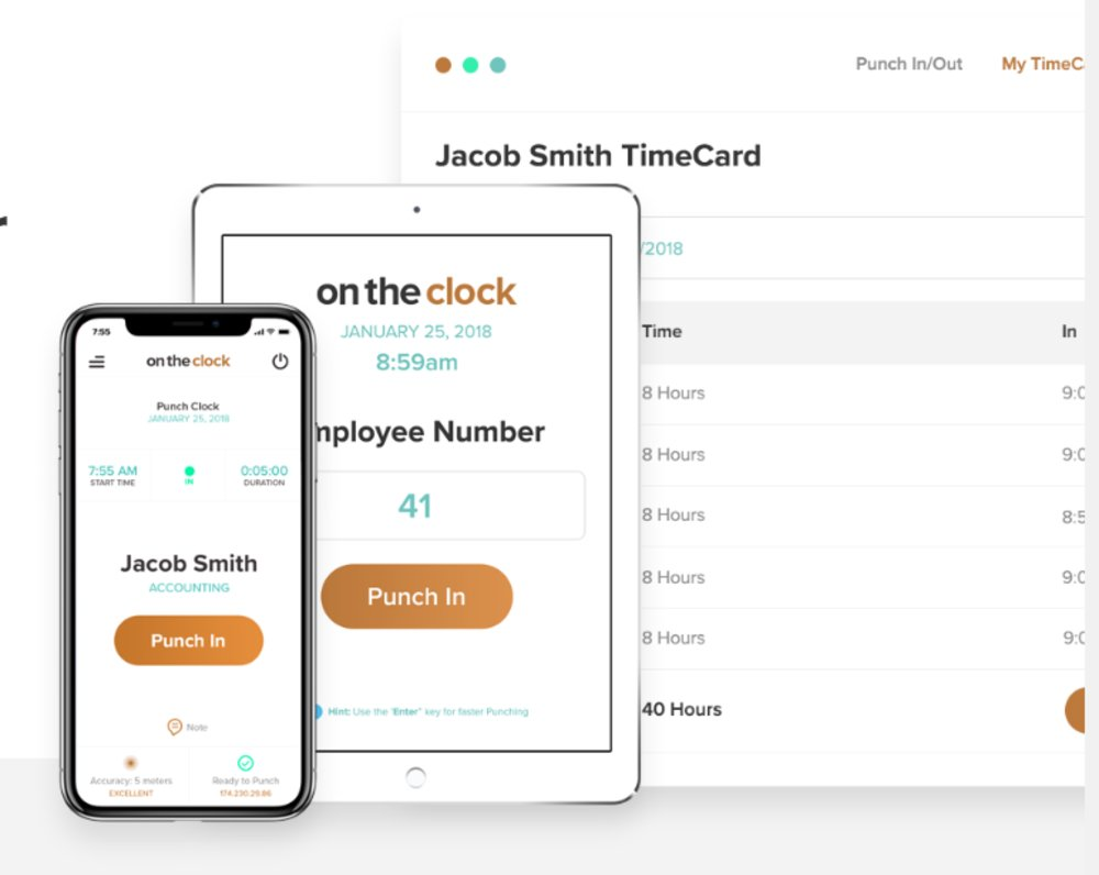 OnTheClock can be accessed by employees through any web browser as well as by mobile devices. The mobile app can be downloaded for free in Google Play or Apple's App Store.