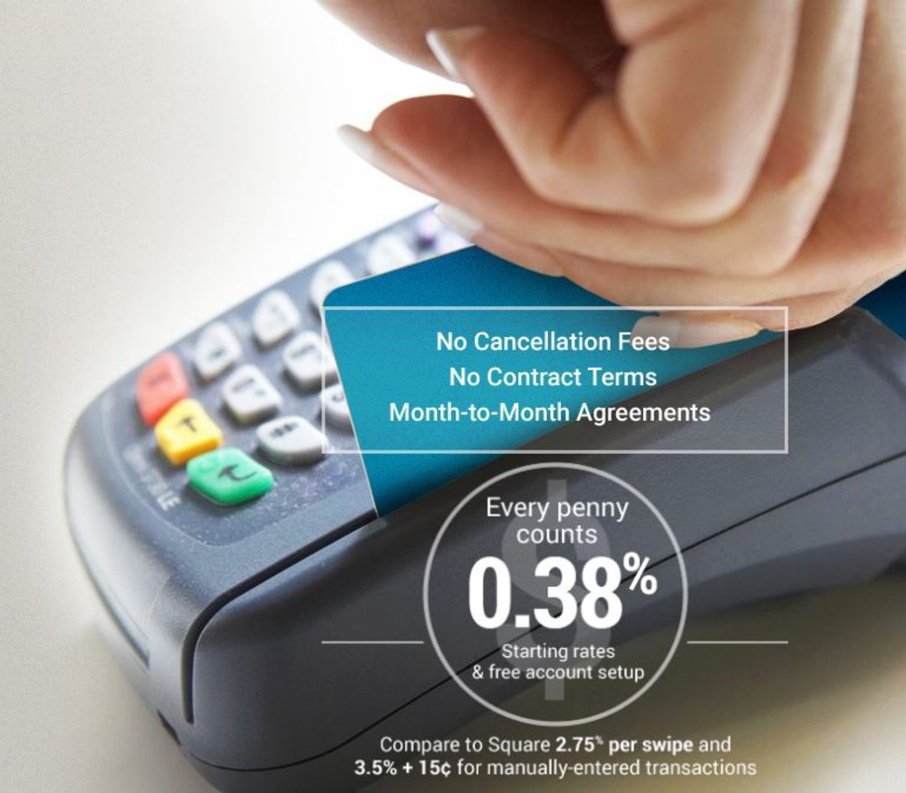 This credit card processor doesn't charge cancellation fees or demand a long-term contract when you set up an account.