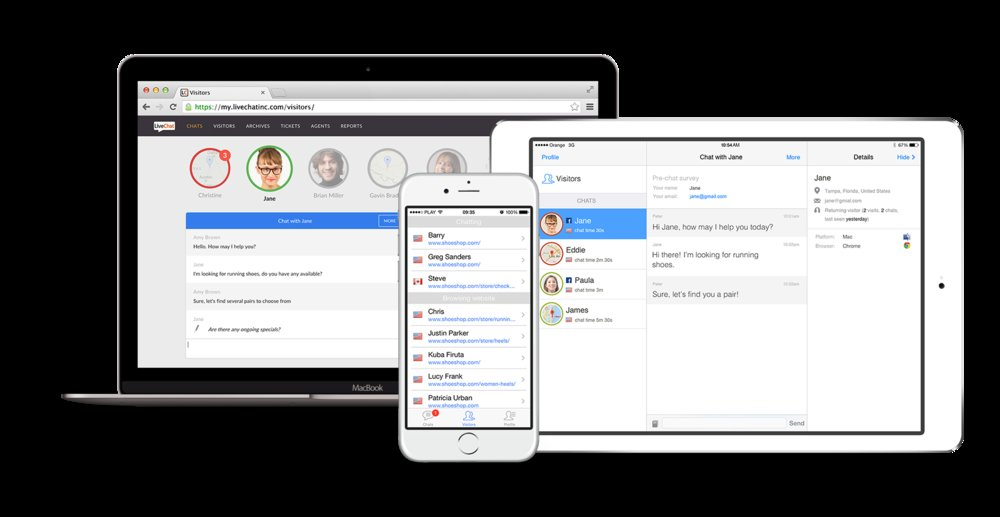 With LiveChat, you can connect with customers on desktop and mobile devices.