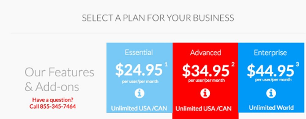 RingByName offers the choice of three different service plans that vary in features.