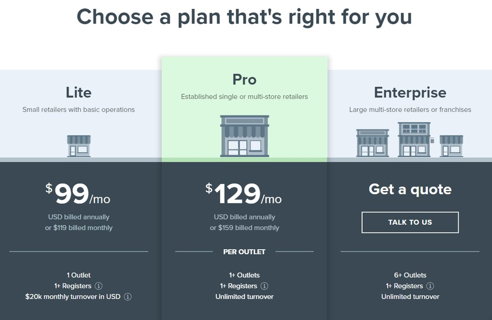 On Vend's website, you can view its pricing and specifics about the features included in each plan.