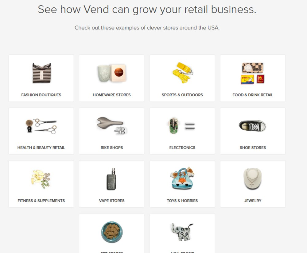 Vend caters to retail businesses in various industries and markets, including specialty stores. On the website, you can order store-specific guides to see how the POS system may benefit your store.