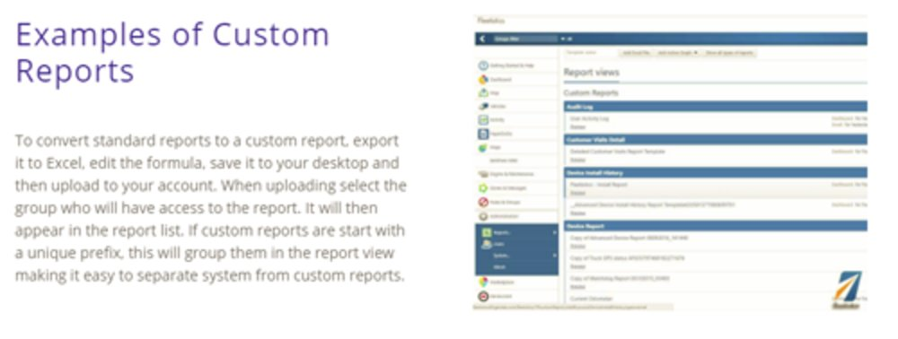 You can create a range of reports within Fleetistics. These can be scheduled on a regular basis, or you can elect to set real-time alerts.