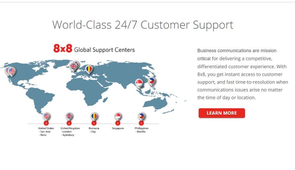 The company has customer service locations across the globe.