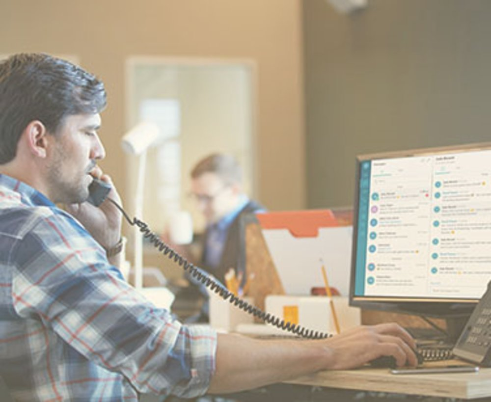 Vonage allows employees to connect with customers via voice, text messaging and video.