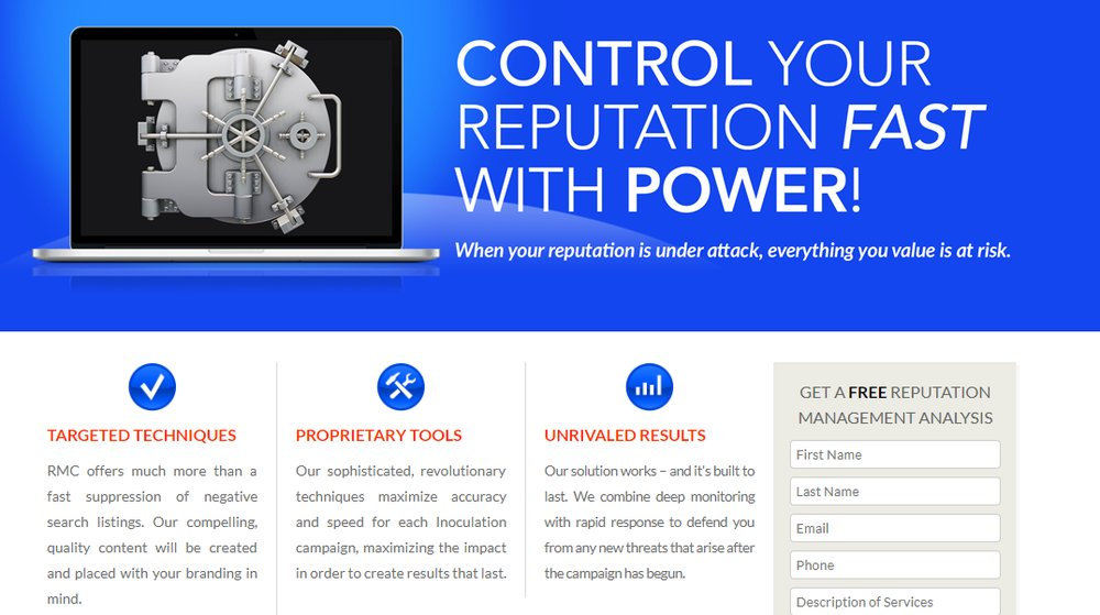 Reputation Management Consultants monitors trends and influences search engine rankings on behalf of clients.