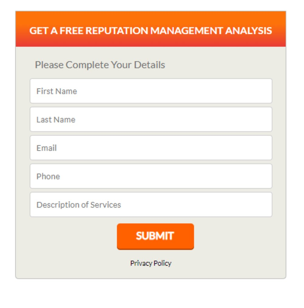 You can contact Reputation Management Consultants for a free analysis before you sign up for their services.