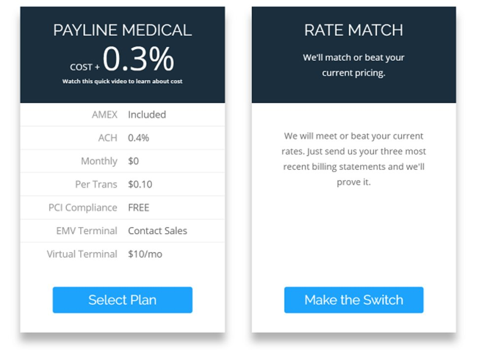 Healthcare-related businesses receive special pricing. This service is HIPAA compliant, and there is no PCI compliance fee for this particular plan.