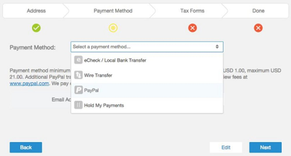 Using Tipalti, you can pay vendors in 190 countries with 120 currencies, and your suppliers can choose from six payment methods: U.S. ACH, global ACH, wire, PayPal, check or prepaid debit card.