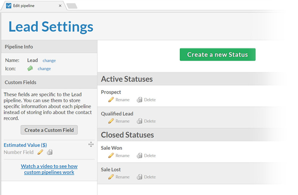 You can create custom pipelines and fields to categorize each lead exactly how you want to.
