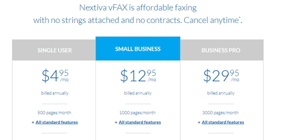 Nextiva's tiered month-to-month plans are affordable and don't require any contracts.