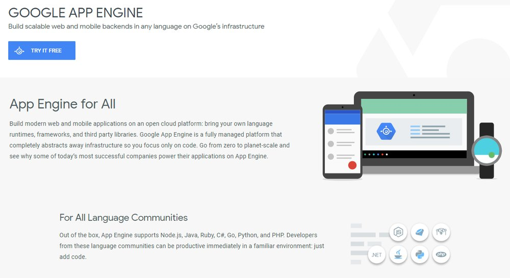 Google App Engine's fully-managed platform allows users to bring in their own language runtimes, frameworks and third-party libraries.