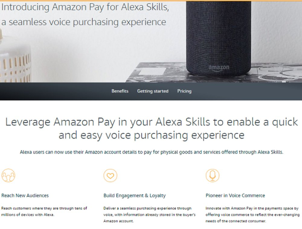 You can use Amazon Pay and Alexa Skills to allow your customers to purchase your goods and services using voice purchasing.