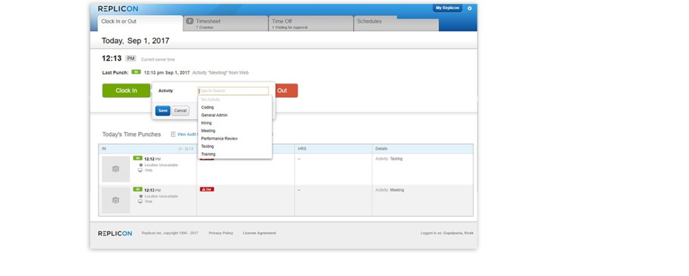 TimeAttend's digital timesheet makes it simple to track how long employees work each day and week.