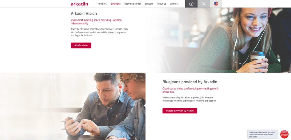 Arkadin supports BlueJeans, Cisco Webex and its own platform, Arkadin Vision. You can choose from these platforms and then have Arkadin implement the service the way you need.