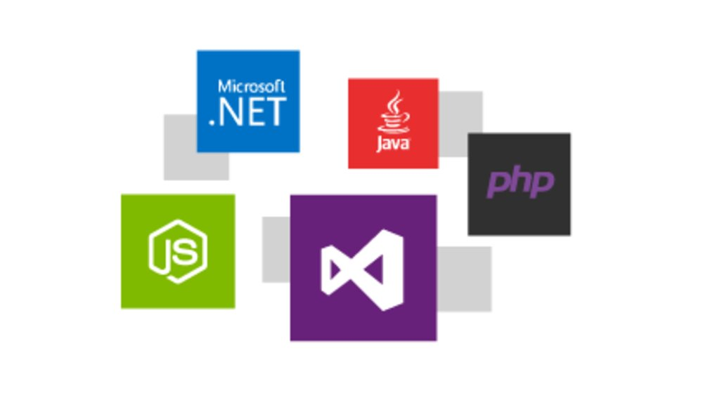 Azure supports many different languages, including Python, PHP and JavaScript.