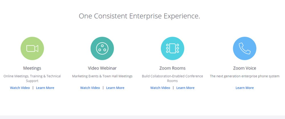Zoom offers a number of services in addition to webinars and video conferences, including providing conference room integration services and an open API for building out additional third-party integrations.